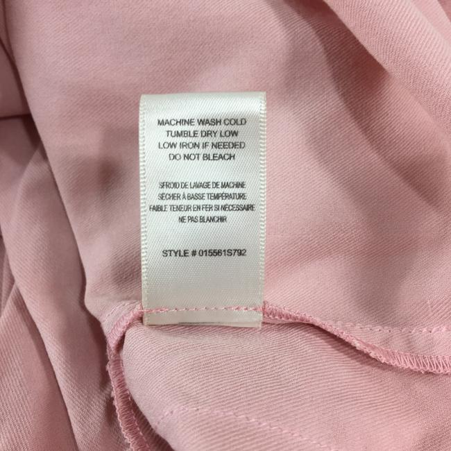 Rebecca Taylor Pleated Silk Casual Comfortable Skirt Pink Image 4