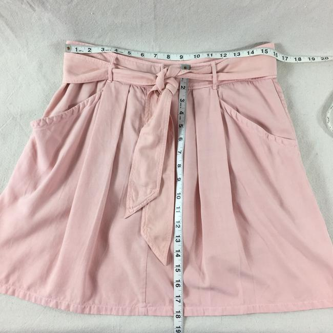 Rebecca Taylor Pleated Silk Casual Comfortable Skirt Pink Image 5