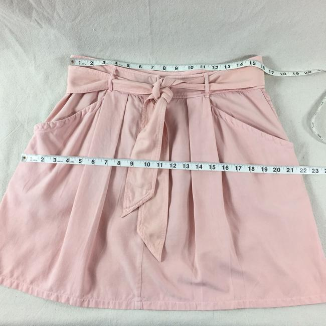Rebecca Taylor Pleated Silk Casual Comfortable Skirt Pink Image 6