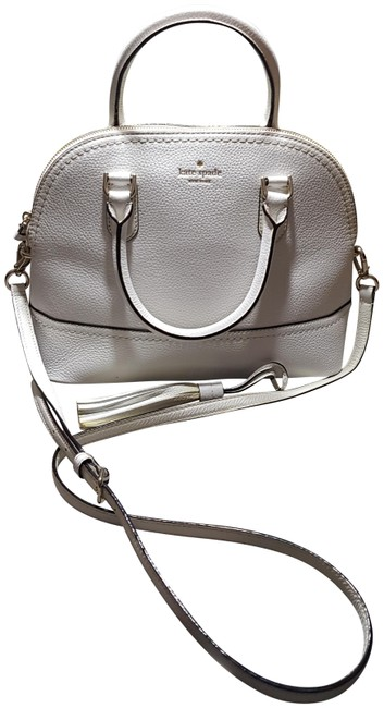 Item - White Lambskin Leather Satchel