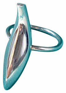 Tiffany & Co. Silver Frank Gehry Fish Ring SIZE 6.5 POUCH BOX