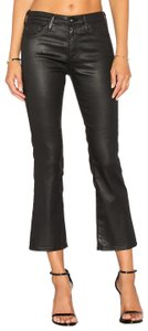 AG Adriano Goldschmied Faux Leather Capri/Cropped Denim-Coated