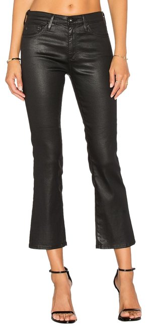AG Adriano Goldschmied Faux Leather Capri/Cropped Denim-Coated Image 0