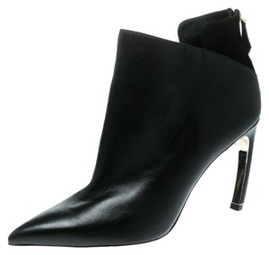 Nicholas Kirkwood Leather Pearl Embellished Pointed Toe Ankle Black Boots