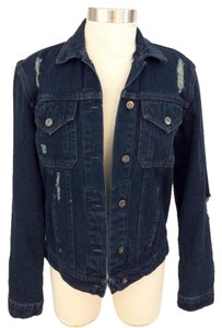 Carmar Dark Blue Washed Womens Jean Jacket