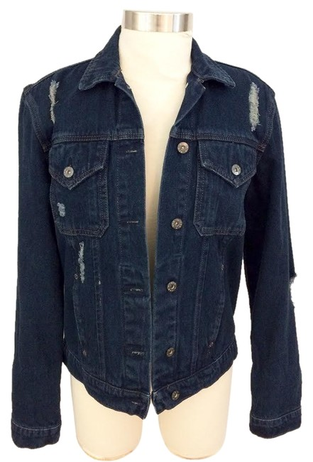 Preload https://img-static.tradesy.com/item/25329546/carmar-dark-blue-washed-distressed-jacket-size-12-l-0-1-650-650.jpg