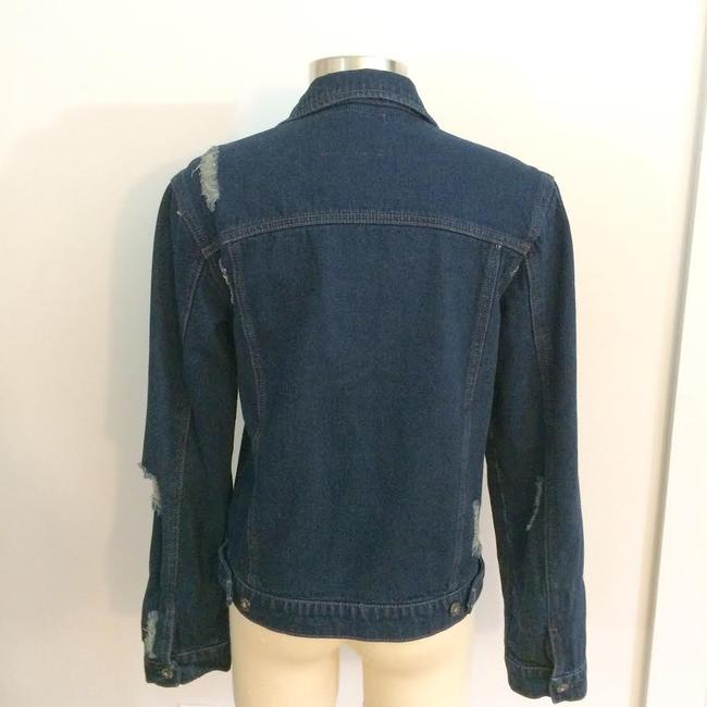 Carmar Dark Blue Washed Womens Jean Jacket Image 1