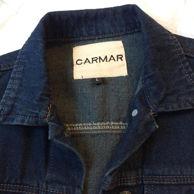 Carmar Dark Blue Washed Womens Jean Jacket Image 2