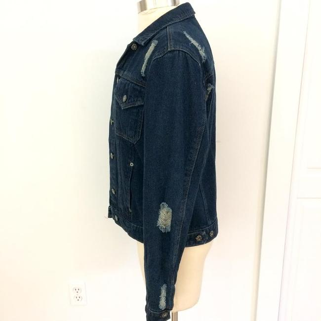 Carmar Dark Blue Washed Womens Jean Jacket Image 3