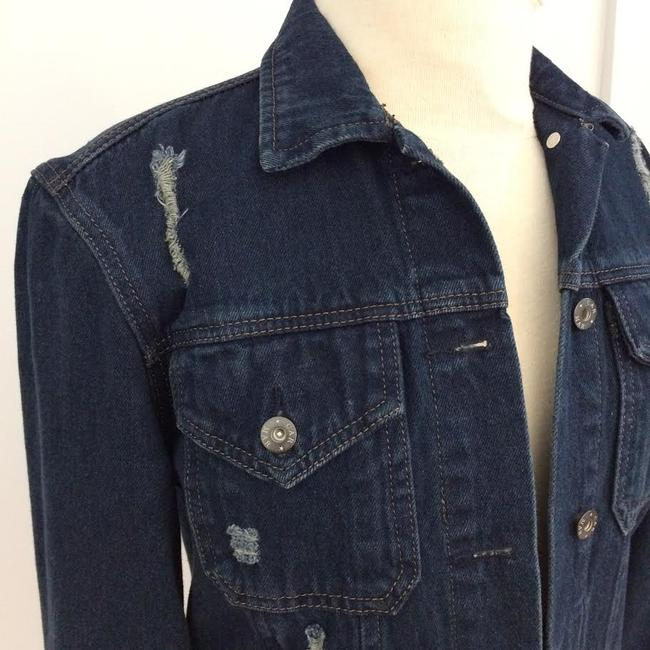 Carmar Dark Blue Washed Womens Jean Jacket Image 5