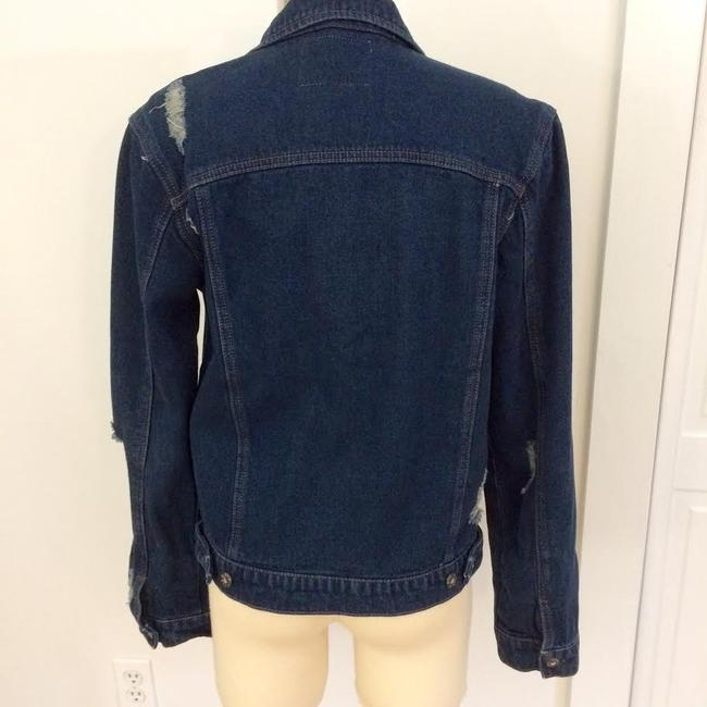 Carmar Dark Blue Washed Womens Jean Jacket Image 6