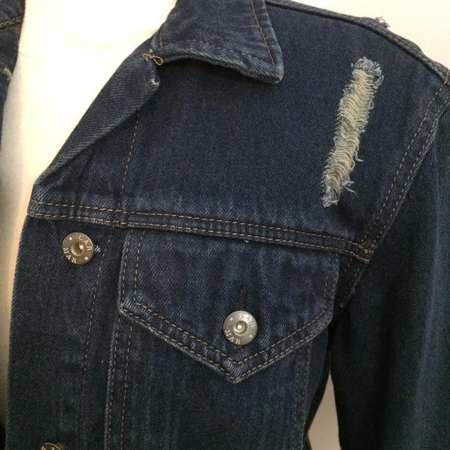 Carmar Dark Blue Washed Womens Jean Jacket Image 9