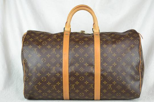 Louis Vuitton Keepall Monogram Tote in Brown Image 6