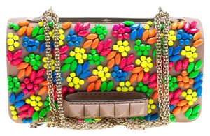 Valentino Leather Embellished Shoulder Bag