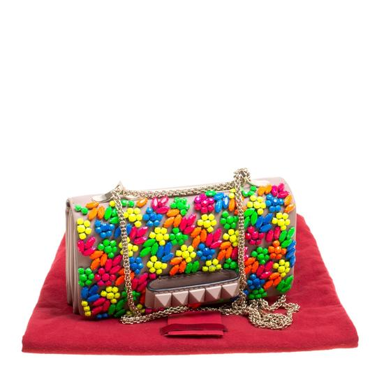 Valentino Leather Embellished Shoulder Bag Image 10