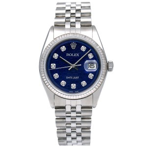 Rolex Rolex Datejust 1601 36MM Blue Dial With Stainless Steel Jubilee