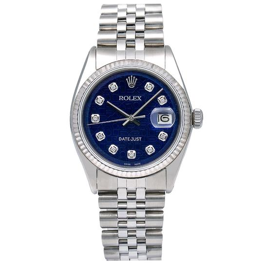 Rolex Rolex Datejust 1601 36MM Blue Dial With Stainless Steel Jubilee Image 0