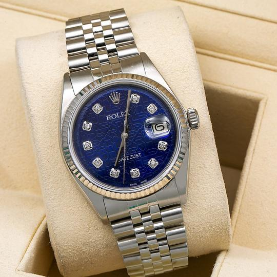 Rolex Rolex Datejust 1601 36MM Blue Dial With Stainless Steel Jubilee Image 1
