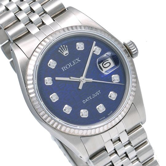 Rolex Rolex Datejust 1601 36MM Blue Dial With Stainless Steel Jubilee Image 2