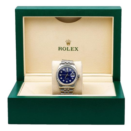 Rolex Rolex Datejust 1601 36MM Blue Dial With Stainless Steel Jubilee Image 5
