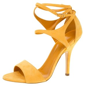Hermès Suede Ankle Yellow Sandals