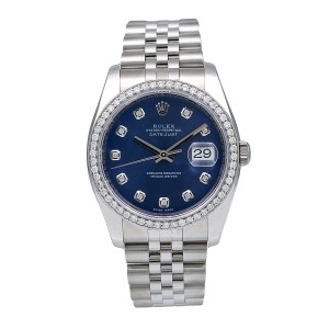 Rolex Rolex Datejust 116234 36MM Blue Diamond Dial With 1.20 CT Diamonds