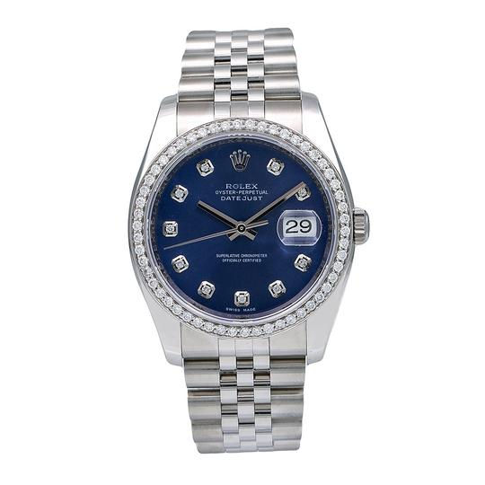 Rolex Rolex Datejust 116234 36MM Blue Diamond Dial With 1.20 CT Diamonds Image 0