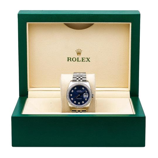 Rolex Rolex Datejust 116234 36MM Blue Diamond Dial With 1.20 CT Diamonds Image 4