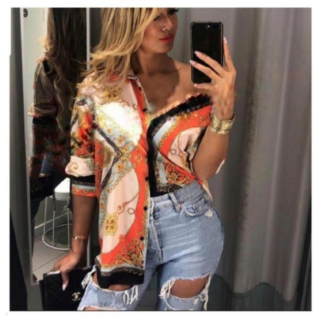 Preload https://item5.tradesy.com/images/zara-multicolored-button-down-top-size-4-s-25329854-0-0.jpg?width=400&height=650
