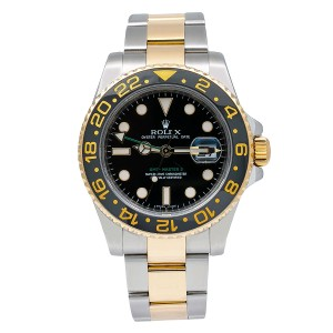 Rolex Rolex GMT-Master II 116713 40MM Black Dial With Two Tone Jubilee