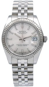 Rolex Rolex Datejust 178274 31MM Silver Dial With Stainless Steel