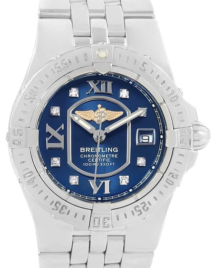 Preload https://img-static.tradesy.com/item/25329919/breitling-blue-starliner-diamond-dial-steel-ladies-a71340-watch-0-1-540-540.jpg