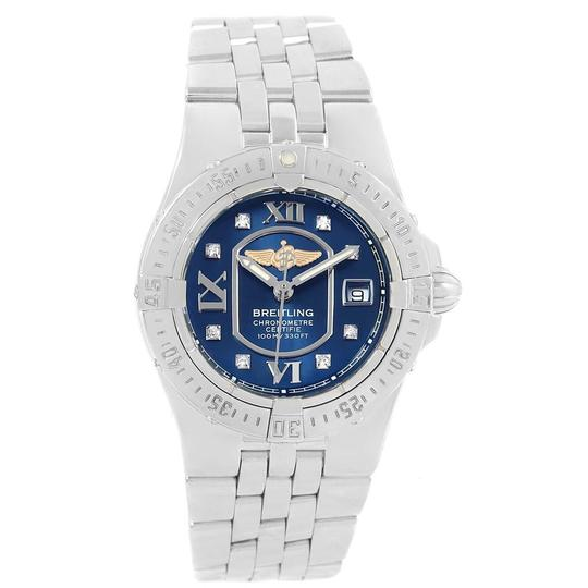 Breitling Breitling Starliner Blue Diamond Dial Steel Ladies Watch A71340 Image 1