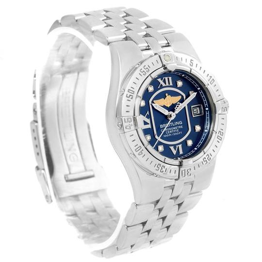 Breitling Breitling Starliner Blue Diamond Dial Steel Ladies Watch A71340 Image 2