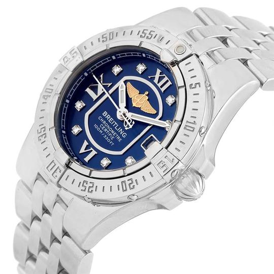 Breitling Breitling Starliner Blue Diamond Dial Steel Ladies Watch A71340 Image 4