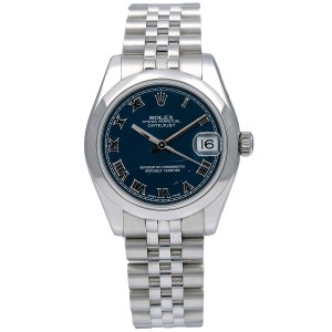 Rolex Rolex Datejust 178240 31MM Blue Dial With Stainless Steel Jubilee