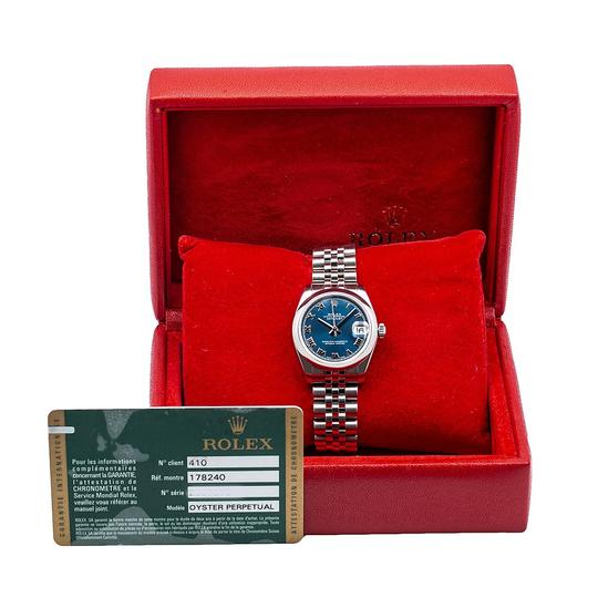 Rolex Rolex Datejust 178240 31MM Blue Dial With Stainless Steel Jubilee Image 5