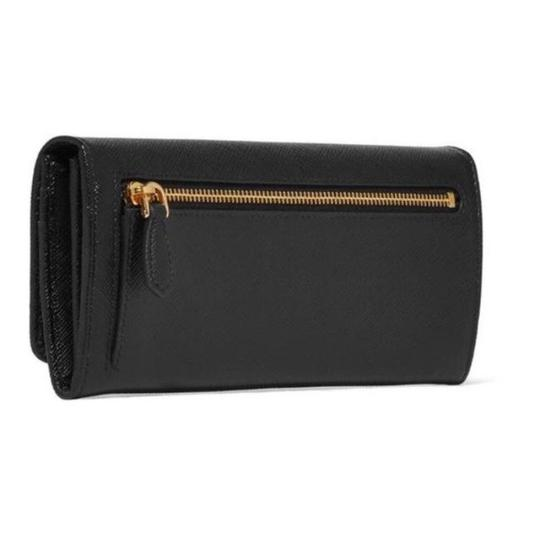 Prada saffiano leather flap continental long wallet Image 2
