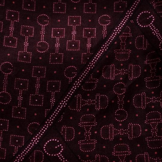 Gucci Burgundy Ombre Printed Silk Fringed Edge Scarf Image 4