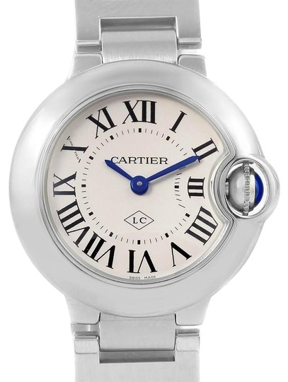 Preload https://img-static.tradesy.com/item/25329947/cartier-silver-ballon-bleu-stainless-steel-small-ladies-w69010z4-watch-0-1-540-540.jpg