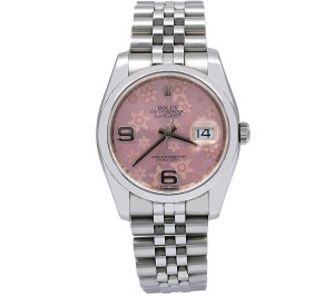 Rolex Rolex Datejust 116200 36MM Pink Floral Dial With Stainless Steel
