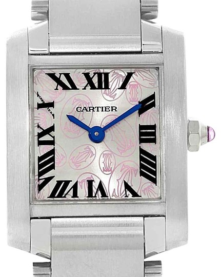 Preload https://img-static.tradesy.com/item/25329961/cartier-silver-tank-francaise-pink-dial-limited-edition-w51031q3-watch-0-1-540-540.jpg