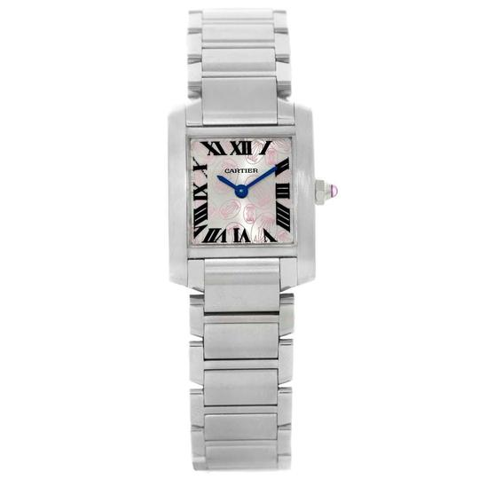 Cartier Cartier Tank Francaise Silver Pink Dial Limited Edition Watch W51031Q3 Image 1