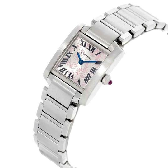 Cartier Cartier Tank Francaise Silver Pink Dial Limited Edition Watch W51031Q3 Image 3