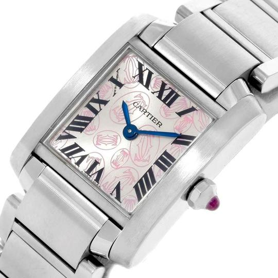 Cartier Cartier Tank Francaise Silver Pink Dial Limited Edition Watch W51031Q3 Image 4