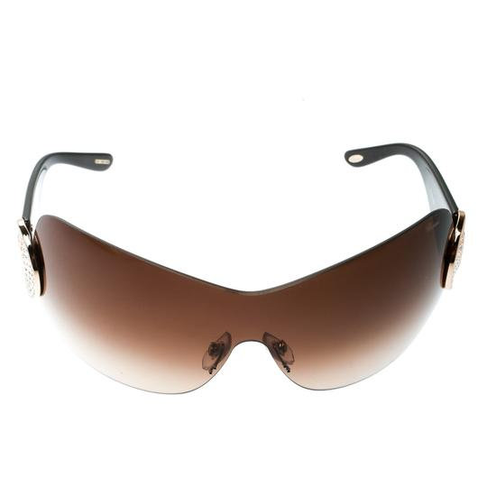 Chopard Brown/Brown Gradient SCH 939S Crystal Embellished Shield Sunglasses Image 1