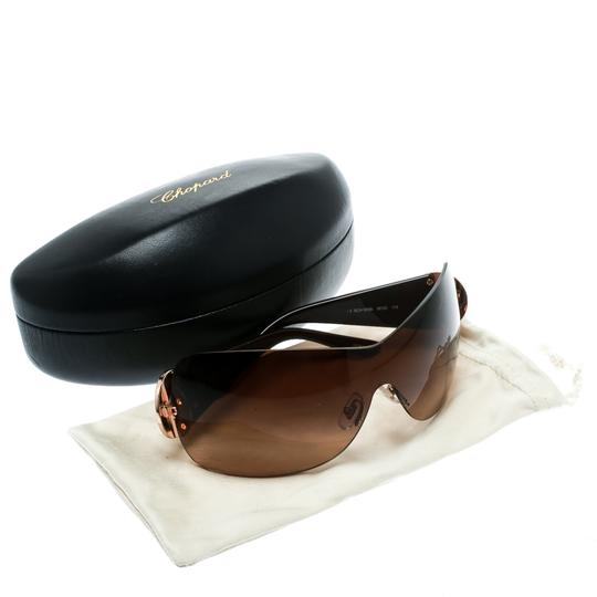 Chopard Brown/Brown Gradient SCH 939S Crystal Embellished Shield Sunglasses Image 6