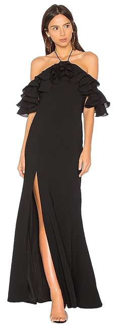 Preload https://img-static.tradesy.com/item/25329993/cmeo-collective-black-ruffle-off-shoulder-gown-long-formal-dress-size-8-m-0-1-650-650.jpg