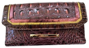 Brahmin Brahmin Fig Chapelle Genuine Croc-Embossed Leather Soft Checkbook