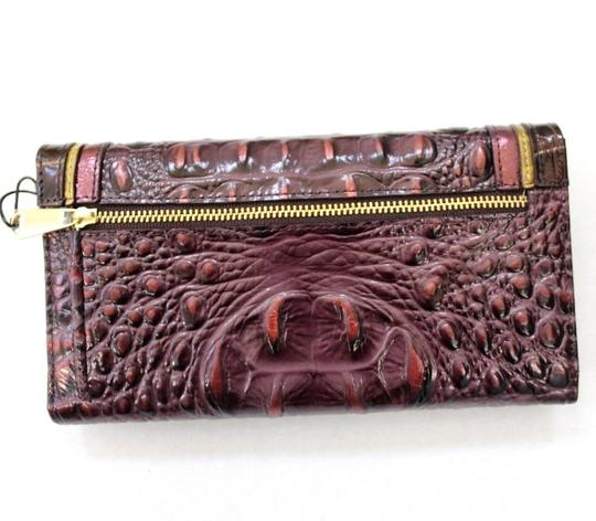 Brahmin Brahmin Fig Chapelle Genuine Croc-Embossed Leather Soft Checkbook Image 1